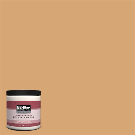 behr premium plus ultra 8 oz m250 4 cake spice interior exterior paint sle ul20416 the