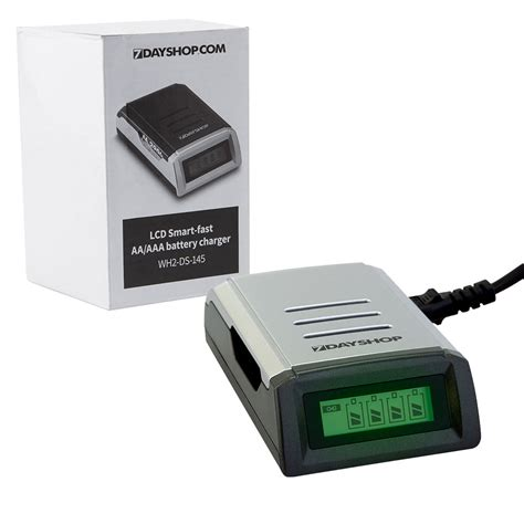 rechargeable a batteries with charger lcd display intelligent fast battery charger for aa aaa