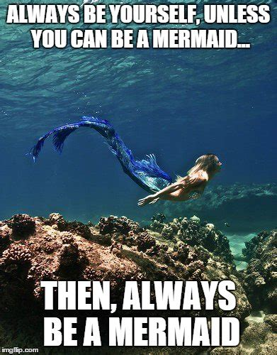 Mermaid Meme - how to quot be yourself quot according to 8 memes and a journal
