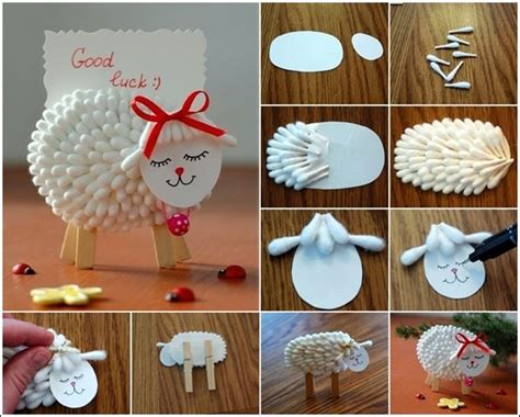How To Make Cotton Paper - diy cotton swab name card holder