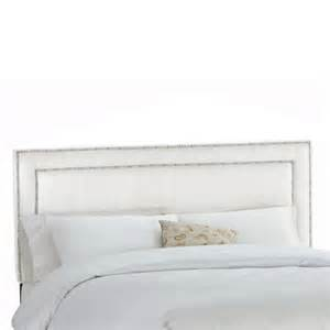 White Upholstered Headboard Skyline Furniture Upholstered Headboard In Premier Microsuede White The Home Depot Canada