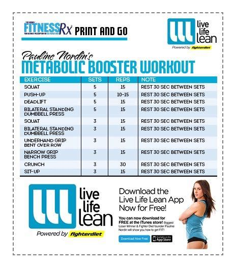 Floor Plan App Free pauline nordin s metabolic booster workout fitnessrx for