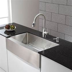 Kitchen Faucets For Farmhouse Sinks sinks stainless steel kitchen sinks kraus 36 inch farmhouse