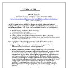 Metallurgical Engineer Cover Letter by Mahdi Kamali Metallurgical Engineer In Sharjah United Arab Emirates