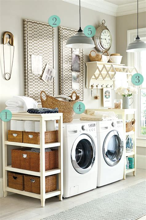 Storage Ideas For Small Laundry Room Small Laundry Room Organization Ideas With Diy Custom Wood Rack Shelves For Rattan Basket And