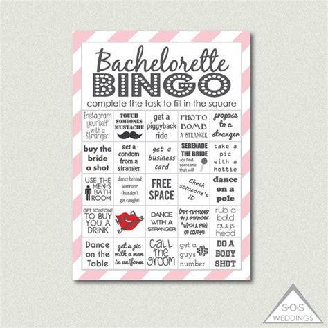 pink bachelorette bingo bachelorette bingo cards