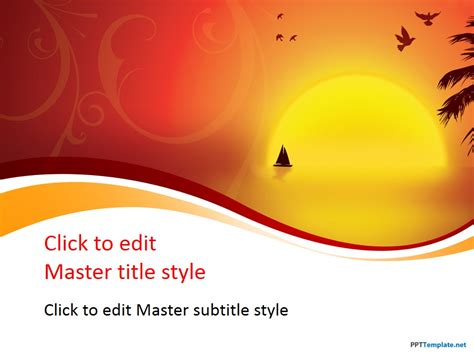 Free Sunset Ppt Template Free Powerpoint Templates Downloads