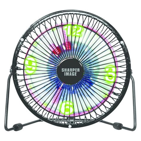 sharper image 6 quot 2 speed table top fan black target