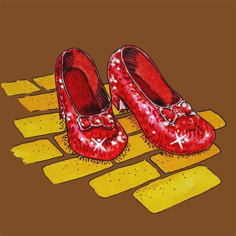 wizard of oz slippers wizard of oz ruby slippers painting by irina sztukowski