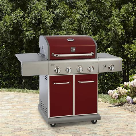 outdoor grill storage cabinet kenmore 4 burner stainless steel gas propane grill outdoor