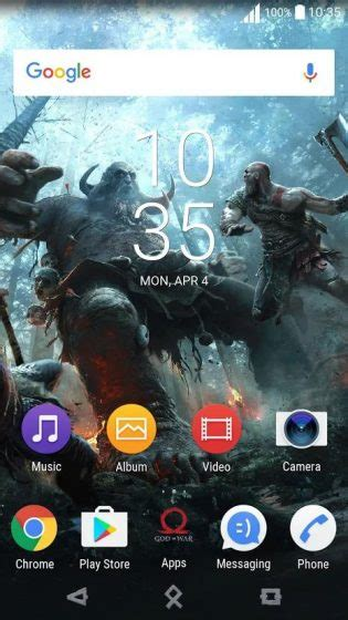 god themes for this mobile sony releases god of war and the sims xperia themes