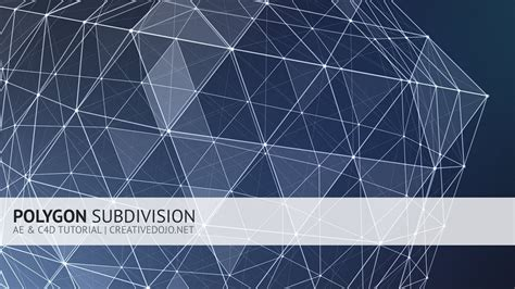 grid pattern c4d ae c4d polygon subdivision tutorial trapcode form