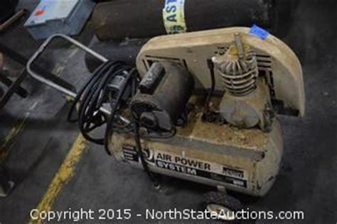 state auctions auction northstate january auction item montgomery ward air compressor