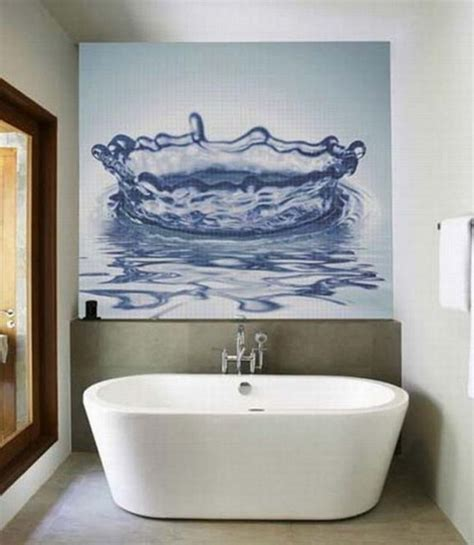 decorating ideas for bathroom walls bathroom decorating ideas from glassdecor mosaic bathroom