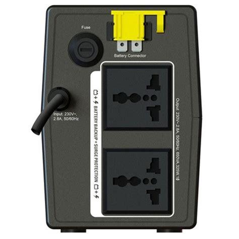 Ups Apc Bx650li Ms 1 jual apc bx650li ms back ups 650va 2 outlet power backup battery beli di