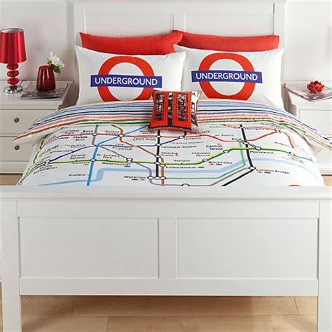 George Home London Tube Map Duvet Set Bedding Asda Direct Asda Bed Sets