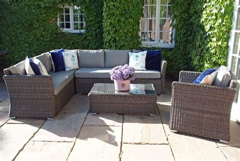 couch and coffee table venice rattan garden furniture lhf corner sofa armchair