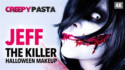 jeff the killer makeup tutorial creepy pasta jeff the killer halloween makeup tutorial