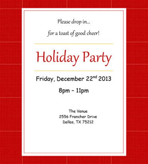 christmas invite wording for the office template 51 invitation template free word psd vector illustrator documents free