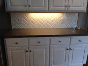 Kitchen Backsplash Subway Tile Patterns Primus White 3x6 Quot Beveled Subway Tile In Herringbone