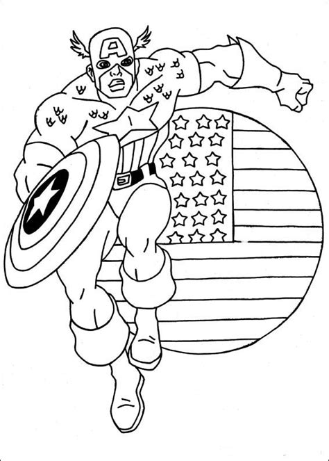 coloring pictures captain america coloring pictures