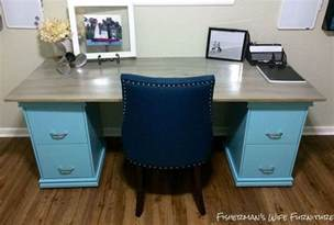 diy filing cabinet desk hometalk