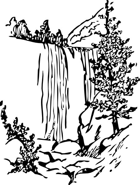 coloring page waterfall waterfall 9 nature printable coloring pages