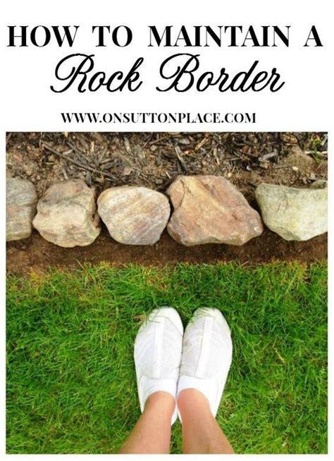 rocks for garden borders 25 best ideas about rock border on rock