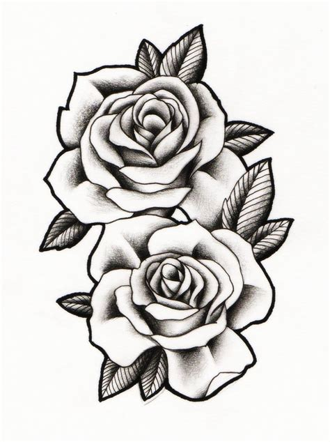 rose pattern tattoos best 25 two roses ideas on