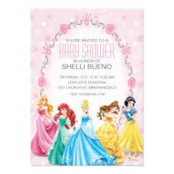disney princess invitation templates disney princess it s a baby shower 5x7 paper