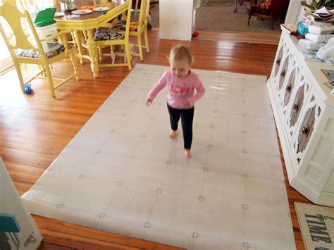 linoleum area rugs diy dining room area rug painted linoleum reality