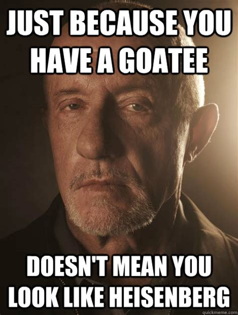 Heisenberg Meme - just because you have a goatee doesn t mean you look like