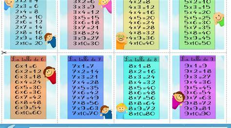 application table de multiplication tables de multiplication ecole de praranger