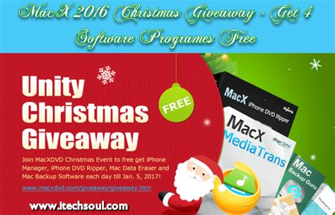 Software Giveaways 2016 - macx 2016 christmas giveaway get 4 software programs free itechsoul