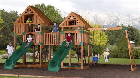 backyard imagination vista wooden swing set by backyard discovery wooden