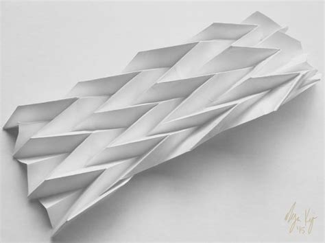 Origami Folding Techniques - programmed paper resting miura ori origami fold study