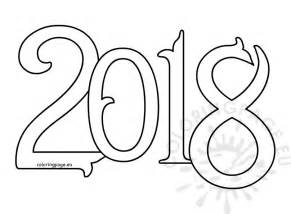 Coloring Pages 2018 Vector New Year 2018 Coloring Page by Coloring Pages 2018