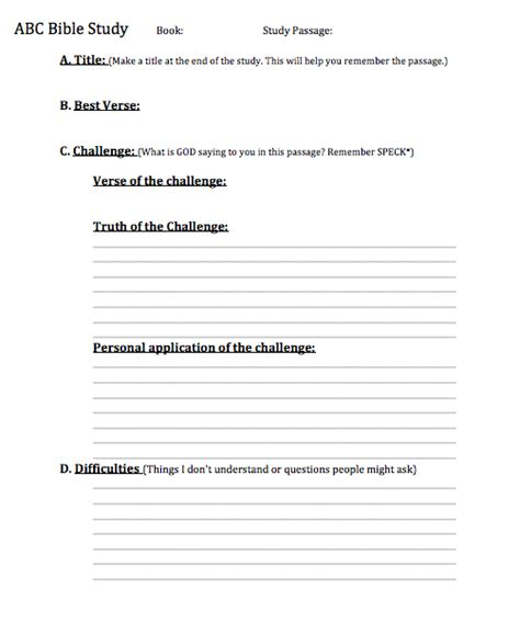 Bible Study Guide Outline by The Abc Method Of Bible Study Study Methods Bible And Scriptures