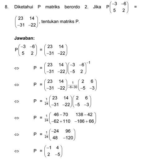 imath matriks operasi matriks determinan  invers matriks