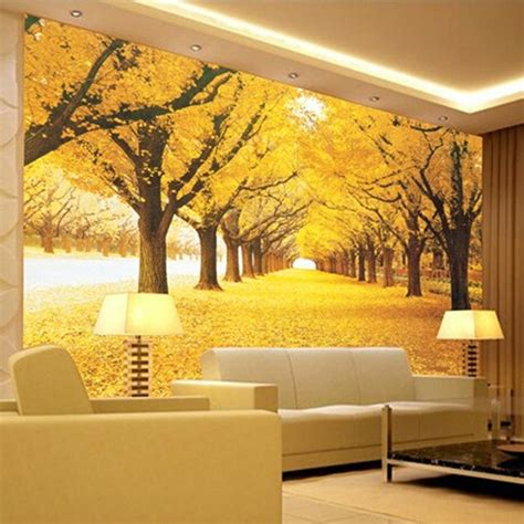 living room wall murals great wall modern 3d wall mural wallpaper golden grove