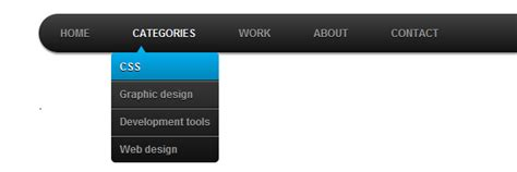 menu design using html and css css3 dropdown menu