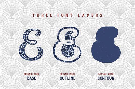mosaic pattern font mosaic pool typeface by gleb natasha guralnyk