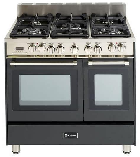 Oven Verona vefsge365nde verona 36 quot dual fuel oven range matte black finish