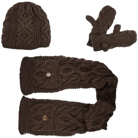 elin winter accessory set beanie hat pocket scarf