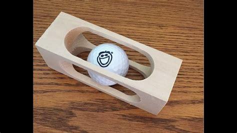 mystery golf ball   block  wood woodloggercom