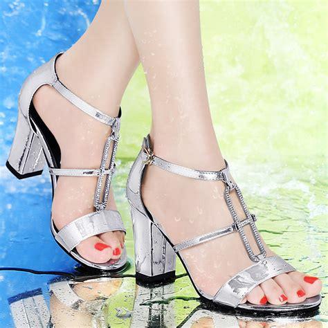 white silver high heels rhinestone high heels white silver wedding sandals summer