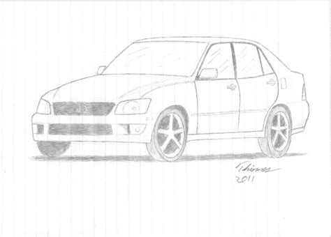 Lexus Is300 Drawing By Ethinnes On Deviantart