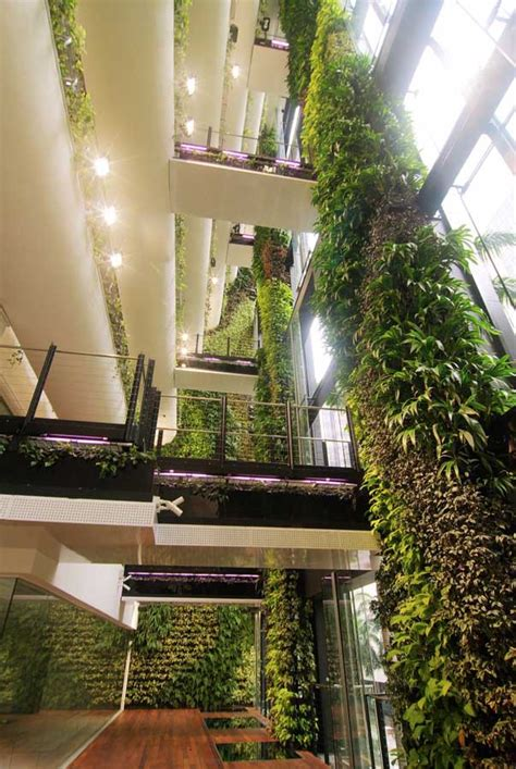 building an indoor garden singapore cbd building hanging garden e architect