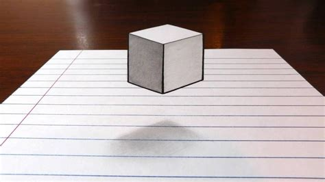 How To Make Paper Look 3d - floating cube 3d trick on paper