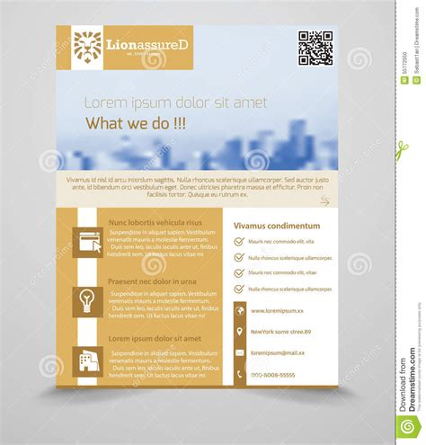 generic flyer template business flyer template stock vector image 55772550